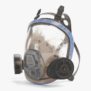 3D gas mask dirty model