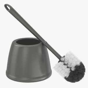 toilet bowl brush gray 3D model