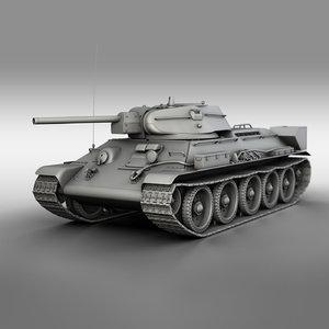 t-34-76 - 1942 factory 3D