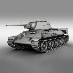 3D t-34-76 - 1942 factory