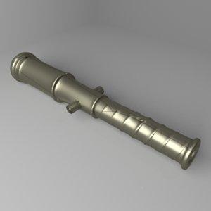 swivel cannon 3D model