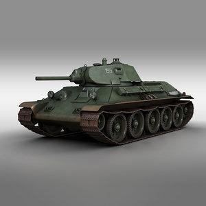 3D t-34-76 - 1940 soviet
