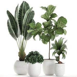 plants white 3D model