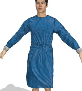 3D model medical isolation gown