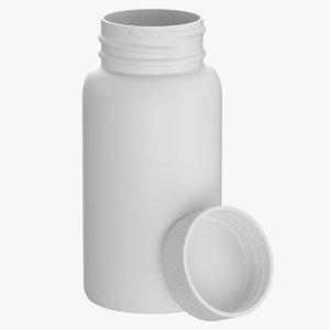 3D plastic bottle pharma 120ml