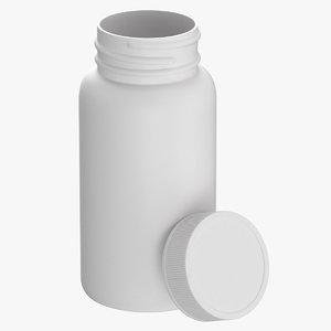 plastic bottle pharma 120ml 3D model