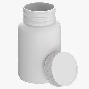 3D plastic bottle pharma 200ml