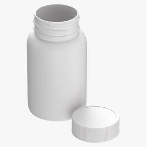 plastic bottle pharma 60ml 3D model