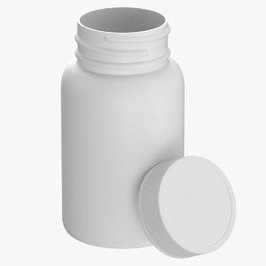 3D plastic bottle pharma 60ml