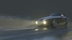 3D car highway road model