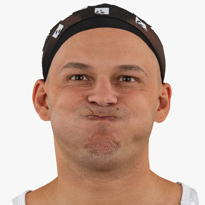 marcus human head cheek 3D