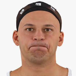 3D marcus human head cheek