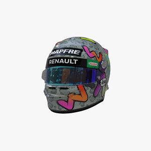 3D ricciardo 2020 helmet model