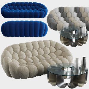 bubble sofa roche bobois 3D model