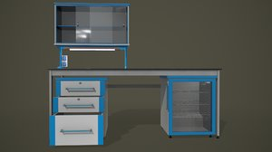 3D pbr laboratory furniture model