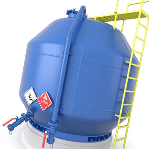 oil pressure tank 3D