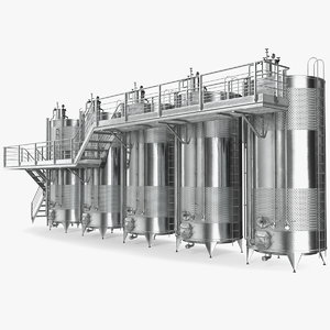 stainless steel wine tanks 3D