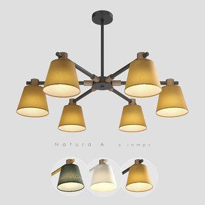 chandelier 6 natura 3D model