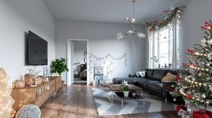nordic style apartment 3D model