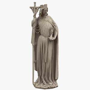 3D saint cross statue model