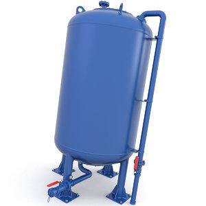 tank pressure 3D model
