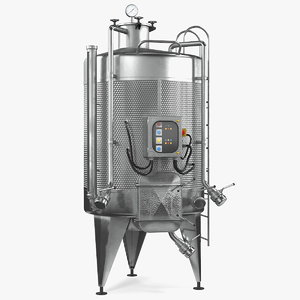 stainless steel wine fermentation 3D