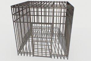3D model basement jail storage