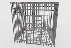 basement jail storage 3D model