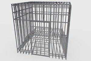 3D basement jail storage