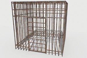 basement jail storage rusty 3D model