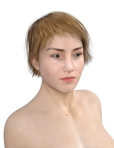 woman people character 3D model