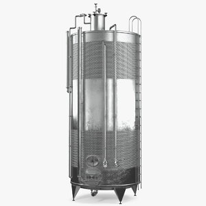 3D model stainless steel wine tank