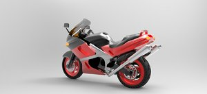 3D model kawasaki motorcycle