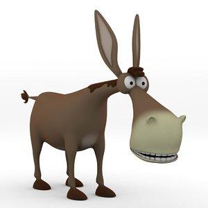 cartoon donkey model