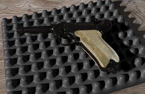 3D luger p08 pistole