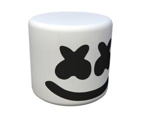 3D marshmello helmet marshmallow