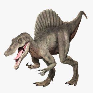 3D model spinosaurus dinosaur