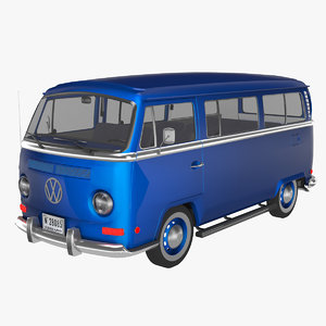 3D model volkswagen t2
