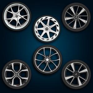 3D wheels rims tyre model