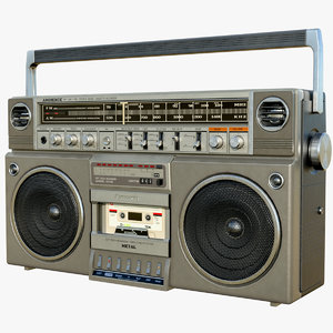 old boombox cassette tape model