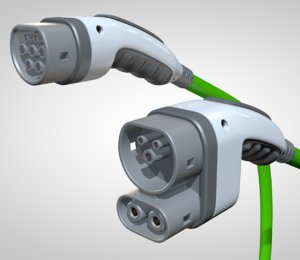 electric vehicle connector 3D
