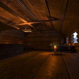 medieval tavern building 3D model