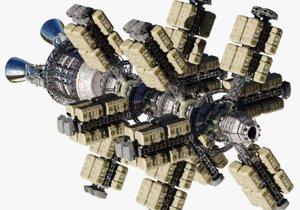3D cargo spaceship