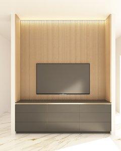 bedroom tv unit 3D model