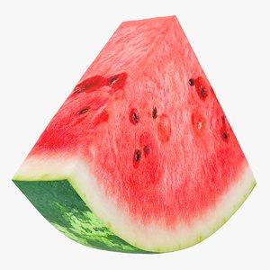 3D realistic slice watermelon model
