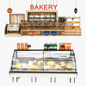 3D cheese bakery display stand