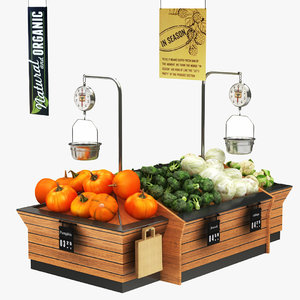 3D fruit vegatables display stand model
