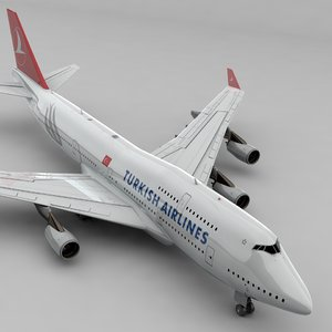 boeing 747 turkish airlines model