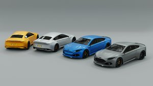 pack generic sports car 3D model