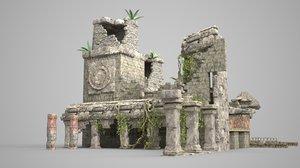 ancient ruins mayan 3D model